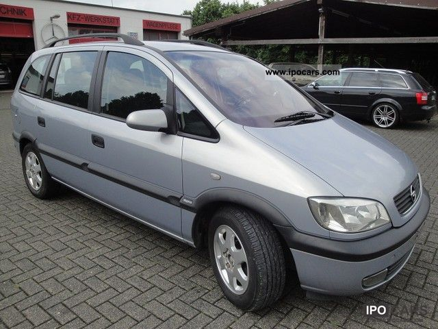 2000 opel zafira 2 0 dti air car photo and specs. Black Bedroom Furniture Sets. Home Design Ideas