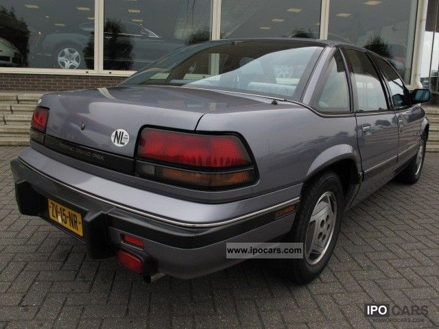 1991 pontiac grand prix le 3 1 v6 aut car unieke car photo and specs. Black Bedroom Furniture Sets. Home Design Ideas