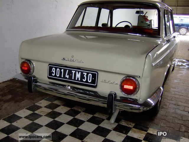 1965 Talbot  1965 Simca 1500 Southern France Limousine Classic Vehicle photo