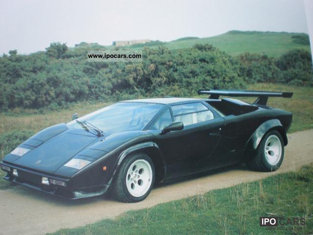 1985 lamborghini countach quattrovalvole nera car photo and specs. Black Bedroom Furniture Sets. Home Design Ideas