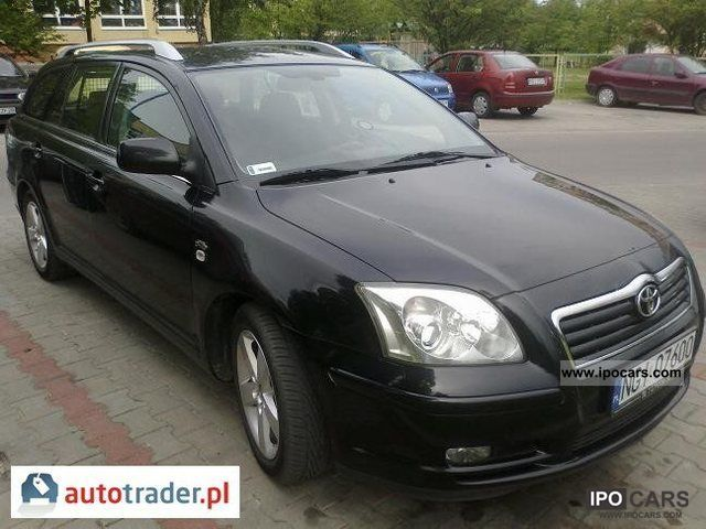 2004 toyota avensis car photo and specs. Black Bedroom Furniture Sets. Home Design Ideas