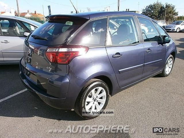 2012 citroen c4 picasso 1 6 hdi110 fap confort car photo and specs. Black Bedroom Furniture Sets. Home Design Ideas