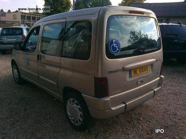 2005 citroen berlingo 2 0 hdi air disabled passenger car photo and specs. Black Bedroom Furniture Sets. Home Design Ideas