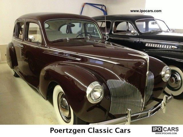 lincoln zephyr  cylinders oldtimer car photo