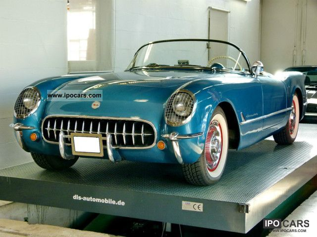 Corvette  C 1 early 54 that 1.gebaute with long tailpipes 1954 Vintage, Classic and Old Cars photo