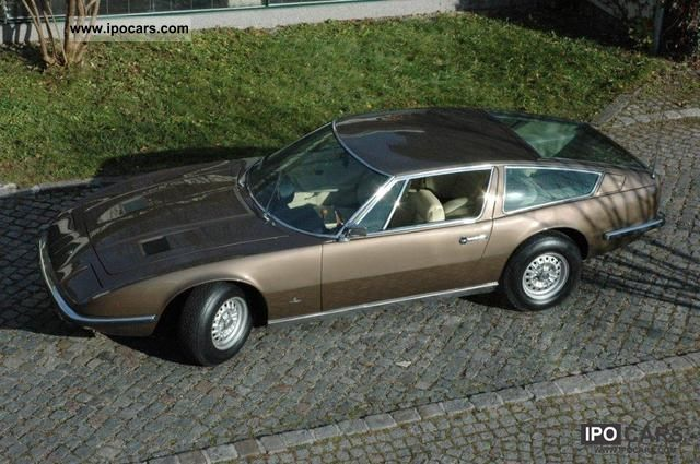 1970 Maserati  Indy 4.2 V8 fresh from Italy Sports car/Coupe Classic Vehicle photo