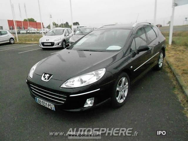 2009 peugeot 407 sw 2 2 hdi 16v premium pack fap car photo and specs. Black Bedroom Furniture Sets. Home Design Ideas