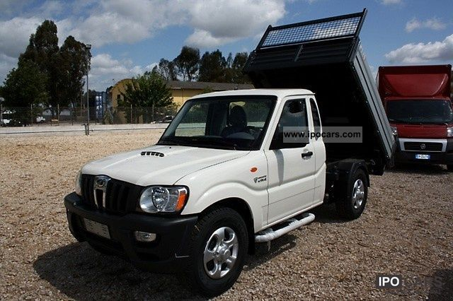 2012 Mahindra Goa 2 2 CRDE 4WD SC Pick Up RIBALTABILE Trilater - Car