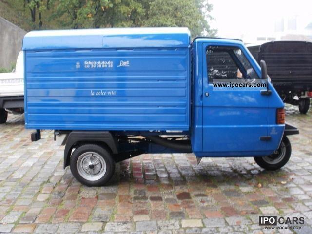 2012 piaggio ape tm 703 blue box - car photo and specs