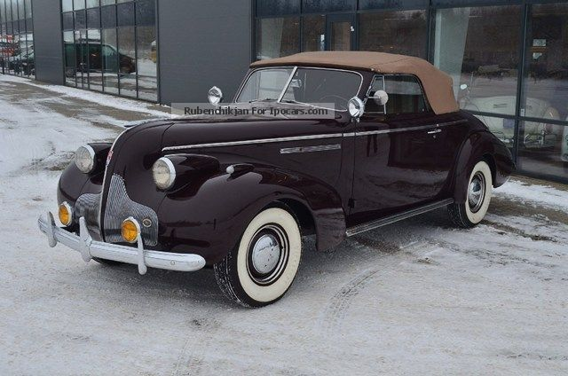 Buick  Century 5.2 Series 60 Convertible 1939 Vintage, Classic and Old Cars photo