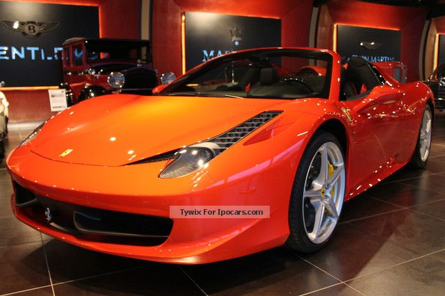 2013 Ferrari 458 Italia Spider F1 * 2013 * New vehicle   Car Photo