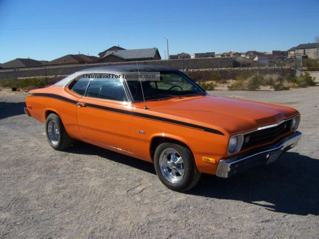 Plymouth  1974 Duster, bright orange Texas car 1974 Vintage, Classic and Old Cars photo