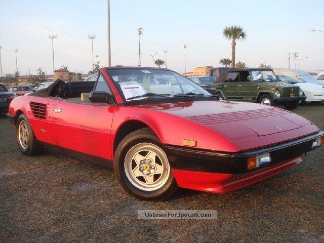 1985 ferrari convertible v8 32v oldtimer car photo and specs. Black Bedroom Furniture Sets. Home Design Ideas
