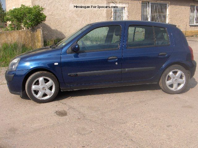 2003 renault clio 1 5 dci air fuel car photo and specs. Black Bedroom Furniture Sets. Home Design Ideas