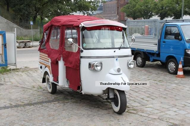 2012 Piaggio  Calessino red / white diesel Cabriolet / Roadster New vehicle photo