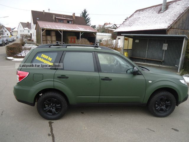 2012 Subaru Forester 2 0x Militray Green Special Model Car Photo