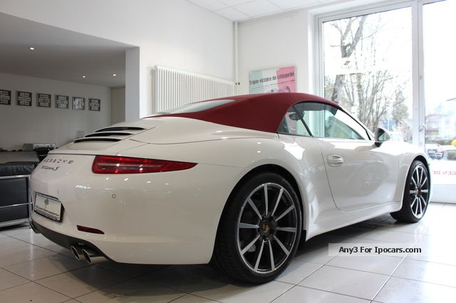 2012 Porsche  991 Carrera 4S PDK Cab 1.HAND 800km / LEATHERRED Cabriolet / Roadster Used vehicle photo