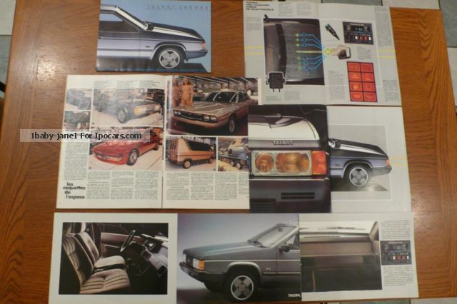 1980 talbot tagora sx du salon de l 39 auto paris 1980 car. Black Bedroom Furniture Sets. Home Design Ideas