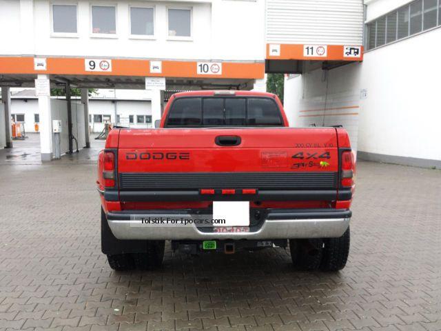 1995 Dodge Ram 3500 Dually 4X4 V10 8l LPG 6Sitzer Long Bed - Car