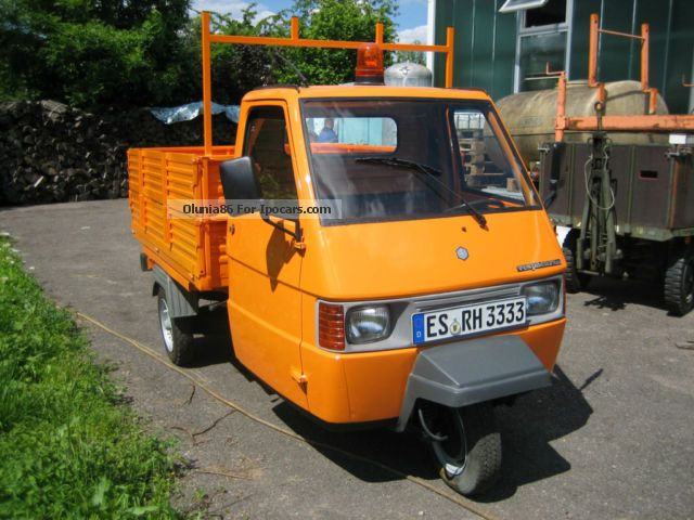 1989 piaggio ape tm 703 diesel tipper car photo and specs. Black Bedroom Furniture Sets. Home Design Ideas