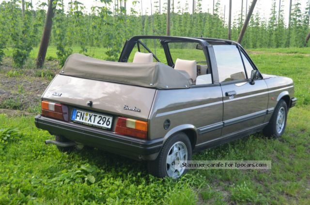 1991 talbot samba cabriolet car photo and specs. Black Bedroom Furniture Sets. Home Design Ideas