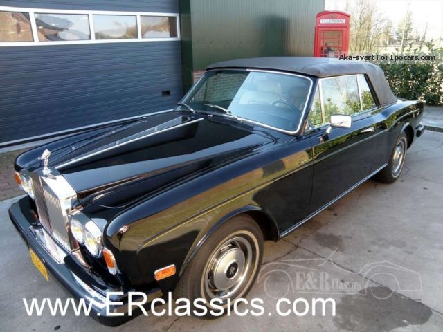 Rolls Royce  Convertible Mulliner Park Ward 1979 1979 Vintage, Classic and Old Cars photo