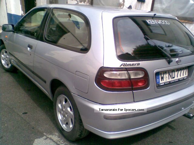 1998 nissan almera 1 6 ambience car photo and specs. Black Bedroom Furniture Sets. Home Design Ideas