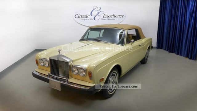 1976 Rolls Royce  Corniche Cabriolet / Roadster Classic Vehicle photo