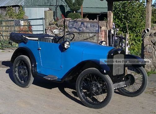 Austin  7 Seven Chummy Racer Orig.A5 ALU-body H-Perm. + TUV 1928 Race Cars photo