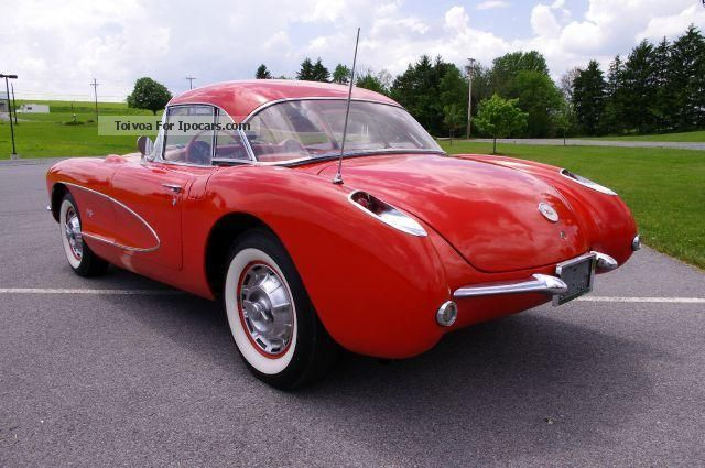 Corvette  C1 1957 RED w / RED LEATHER € 51,800 T1 1957 Vintage, Classic and Old Cars photo