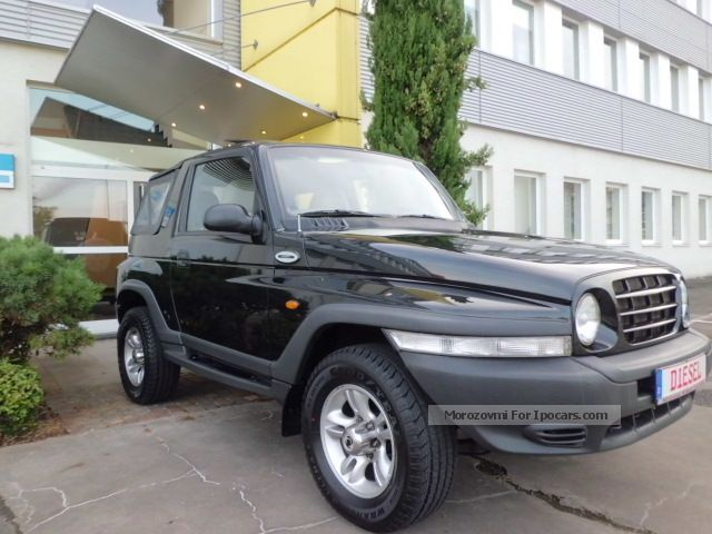 2004 ssangyong korando 2 9 td fun 4x4 ahk leather soft top car photo and specs. Black Bedroom Furniture Sets. Home Design Ideas