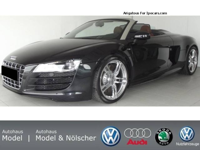 2010 Audi  R8 Spyder 5.2 FSI quattro R tronic - leather brown Cabriolet / Roadster Used vehicle(  Accident-free) photo
