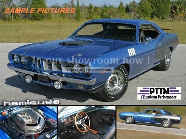 Plymouth  71 Cuda 426 Hemi 4 spd! shaker 1971 Vintage, Classic and Old Cars photo