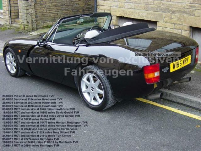 2000 tvr griffith 5 0 folding roof leather rhd car photo and specs. Black Bedroom Furniture Sets. Home Design Ideas