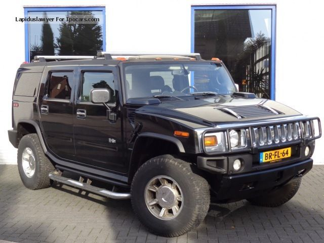 Hummer  H2 6.0 V8 Vrachtwagen show car leather S.Dak Multim 2004 Liquefied Petroleum Gas Cars (LPG, GPL, propane) photo