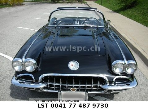 Corvette  1959-Black - Leather Black € 58,900 T1 1959 Vintage, Classic and Old Cars photo
