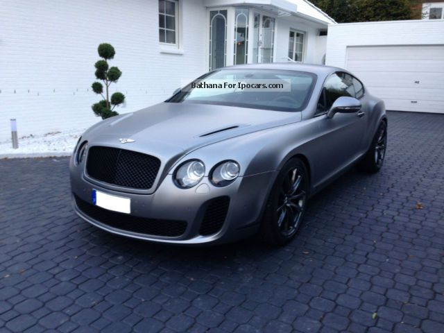 Bentley  Continental Supersports light gray satin NP 278 ' 2012 Ethanol (Flex Fuel FFV, E85) Cars photo