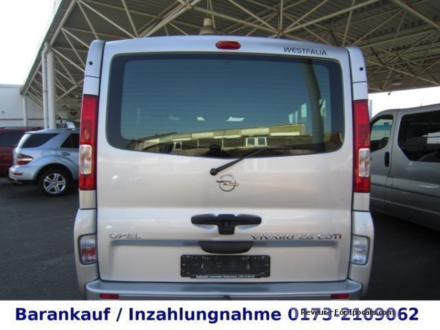 2007 opel vivaro 2 5 cdti cosmo life westfalia standh navi car photo and specs. Black Bedroom Furniture Sets. Home Design Ideas