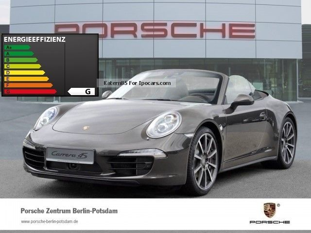 2014 Porsche  911 991 Carrera 4S Convertible BOSE sports exhaust system Cabriolet / Roadster Demonstration Vehicle photo
