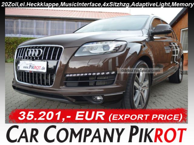 2012 Audi  Q7 3.0 TDI DPF cleand camera, Air / Air, Bose, 30J. Off-road Vehicle/Pickup Truck Used vehicle photo