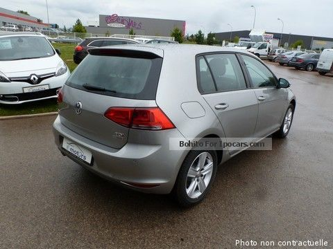 2013 volkswagen golf vii confortline tdi 105 dsg7 5portes car photo and specs. Black Bedroom Furniture Sets. Home Design Ideas