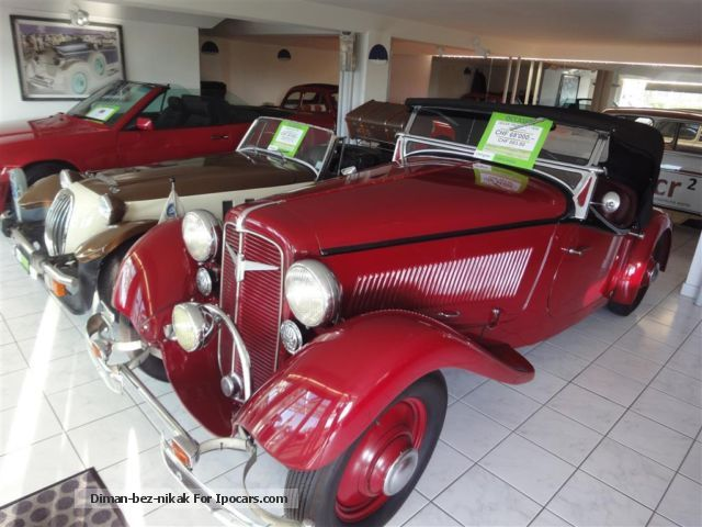 Other  Adler Trumpf Cabriolet 1.7 1934 Vintage, Classic and Old Cars photo
