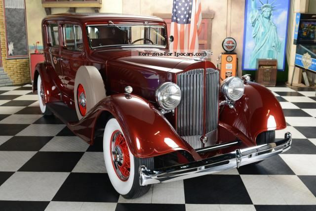 Other  Other 1101 Packard Eight Club Sedan 1934 Vintage, Classic and Old Cars photo