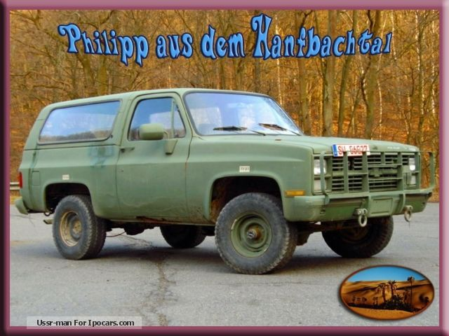 1984 Chevrolet  Chevy M1009 U.S. Army 4x4 Utility Truck Hardtop Off-road Vehicle/Pickup Truck Used vehicle photo
