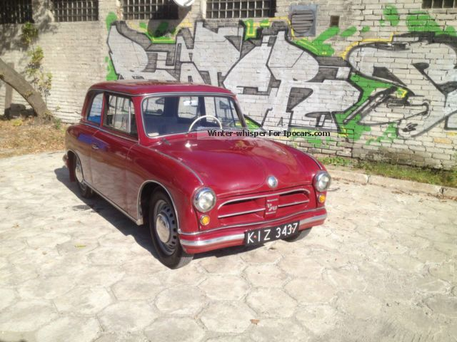 Trabant  AWZ P70 ZWICKAU, ONLY 18,000 KM !!! LIKE NEW !!! 1958 Vintage, Classic and Old Cars photo
