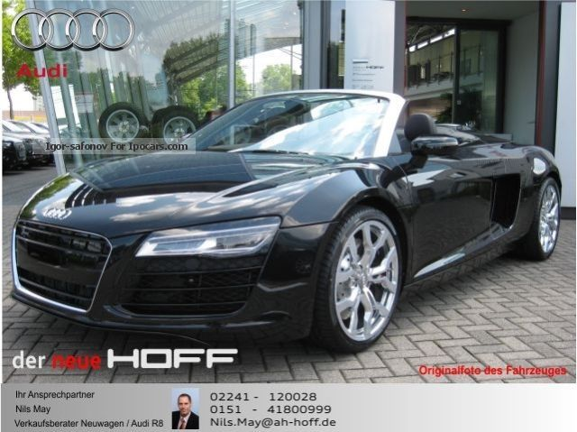 2015 Audi  R8 Spyder S tronic MMI 19 \u0026 quot; B \u0026 amp; O SRP € 141,465, - Cabriolet / Roadster Used vehicle( Accident-free) photo
