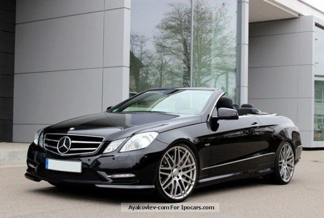 E 500 avantgarde amg cabrio bluee   designo brabus 2011 on mercedes benz e 350 convertible