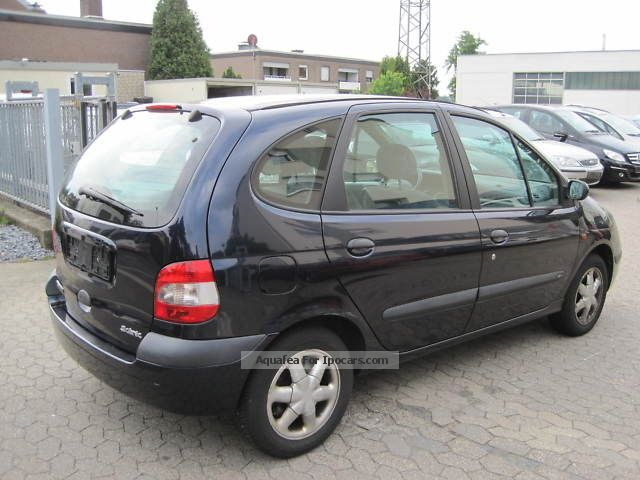 2001 renault scenic 1 6 16v rxe air car photo and specs. Black Bedroom Furniture Sets. Home Design Ideas