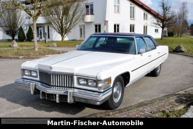 Cadillac  Fleetwood 8.2Liter V8 H Approval TÜV 02/2017 1975 Vintage, Classic and Old Cars photo