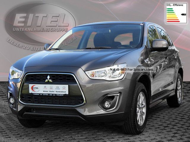 2014 mitsubishi asx 2wd 1 6 cleartec intense klimaautomatik pdc car photo and specs. Black Bedroom Furniture Sets. Home Design Ideas